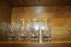 LOT OF 4 ICED TEA GLASSES