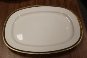 VINTAGE SERVING PLATTER WARRANTED 18 CARAT GOLD TRIM CARROLLTON CHINA