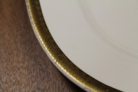 VINTAGE SERVING PLATTER WARRANTED 18 CARAT GOLD TRIM CARROLLTON CHINA - 2
