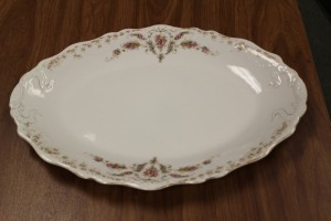 VINTAGE SERVING PLATTER MARKED JOHN MADDOCK & SONS ENGLAND