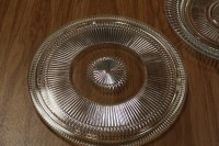 LOT OF 2 GLASS SERVING PLATTERS - 2