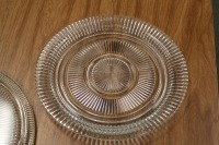 LOT OF 2 GLASS SERVING PLATTERS - 3