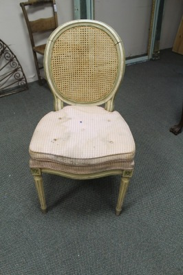 VINTAGE CANE BACK FRENCH PROVINCIAL DINING ROOM CHAIR