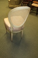 VINTAGE CANE BACK FRENCH PROVINCIAL DINING ROOM CHAIR - 3