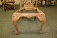 VINTAGE HAND CARVED ENGLISH 1800'S STYLE DINING ROOM CHAIR - 5