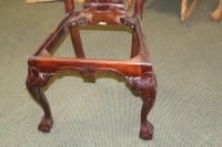 VINTAGE HAND CARVED ENGLISH 1800'S STYLE DINING ROOM CHAIR - 3
