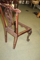 VINTAGE HAND CARVED ENGLISH 1800'S STYLE DINING ROOM CHAIR - 6