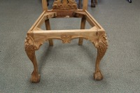 VINTAGE HAND CARVED ENGLISH 1800'S STYLE DINING ROOM CHAIR - 4