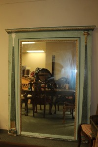 VERY LARGE ANTIQUE EUROPEAN MIRROR (THIS WILL TAKE AT LEAST TWO PEOPLE TO MOVE THIS)