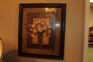 NICELY FRAMED PRINT OF TULIPS IN A VASE