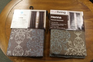 LOT OF 2 TRUELIVING PANEL THERMAL WINE PANEL CURTAINS
