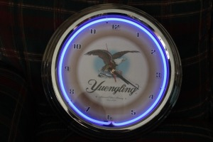YUENGLING BEER CLOCK WITH NEON LIGHT