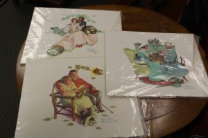LOT OF 4 NORMAN ROCKWELL PRINTS