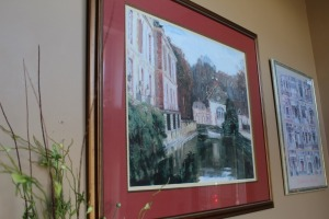 NICELY FRAMED CANAL PRINT
