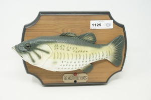 BIG MOUTH BILLY BASS MOTION SENSING ARTICULATED MUSICAL WALL PLAQUE