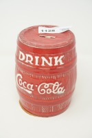 DRINK COCA-COLA BARREL BANK