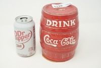 DRINK COCA-COLA BARREL BANK - 6