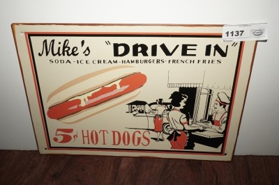METAL SIGN, MIKE'S DRIVE-IN