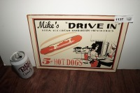 METAL SIGN, MIKE'S DRIVE-IN - 6
