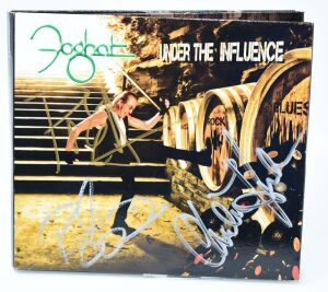 "FOGHAT HAND AUTOGRAPHED CD ""UNDER THE INFLUENCE"" WITH SPECIAL GUESTS KIM SIMMONDS, SCOTT HOLT, NICK JAMESON, DANA FUCHS AND RODNEY O'QUINN - DONATED BY FOGHAT"