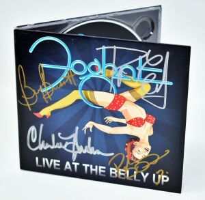 "FOGHAT HAND AUTOGRAPHED CD ""LIVE AT BELLY UP"" - DONATED BY FOGHAT"