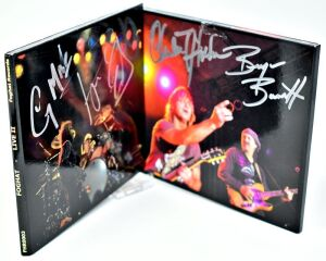 "FOGHAT HAND AUTOGRAPHED CD ""LIVE II"" TWO CDS - DONATED BY FOGHAT"