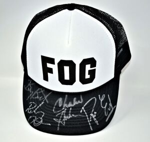 "FOGHAT HAND AUTOGRAPHED BASEBALL CAP ""FOG"" - DONATED BY FOGHAT"