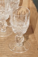WATERFORD CRYSTAL SHERRY STEMS, 8 PIECES - 2