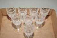 WATERFORD CRYSTAL SHERRY STEMS, 8 PIECES - 3