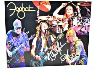 FOGHAT HAND AUTOGRAPHED 8X10 PHOTO - DONATED BY FOGHAT