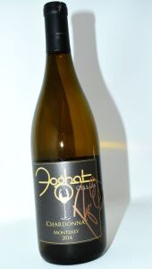 FOGHAT HAND AUTOGRAPHED BY ROGER EARL FROM FOGHAT CELLARS CHARDONNAY MONTEREY 2014 - DONATED BY FOGHAT