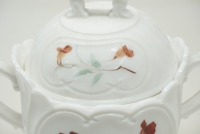 HAND-PAINTED LARGE SUGAR AND LIDDED CANDY DISH - 6
