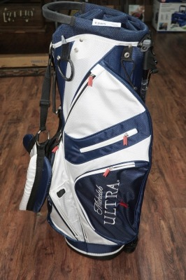 UNUSED LIGHTWEIGHT FULL-SIZE MICHELOB ULTRA LIGHT GOLF BAG WITH BUILT-IN STAND