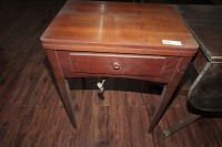 ANTIQUE SINGER SEWING TABLE AND MACHINE - 10
