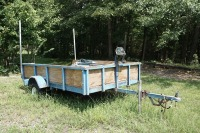 5 X 8 UTILITY TRAILER WITH WINCH AND 2 SPARE TIRES