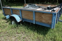 5 X 8 UTILITY TRAILER WITH WINCH AND 2 SPARE TIRES - 2