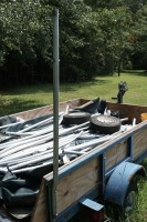 5 X 8 UTILITY TRAILER WITH WINCH AND 2 SPARE TIRES - 6