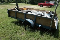 5 X 8 UTILITY TRAILER WITH WINCH AND 2 SPARE TIRES - 10