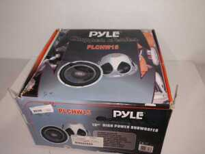 PYLE CHOPPER SERIES 15-IN HIGH-POWERED SUBWOOFER, M A AUDIO ON SPEAKERS