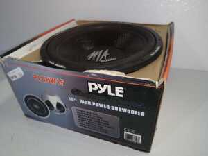 PYLE CHOPPER SERIES 15-IN HIGH-POWERED SUBWOOFER, MA AUDIO IS PRINTED ON SPEAKER