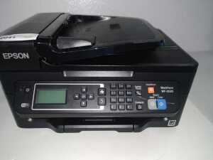 EPSON WORKFORCE MODEL WF-2630 ALL-IN-ONE PRINTER, CONDITION UNKNOWN WITH NO POWER CORD