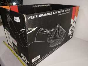 K&N AIR INTAKE SYSTEM, STILL IN BOX, NOT SURE WHAT THIS FITS, SEE PICTURES FOR DETAIL AND MODEL NUMBER