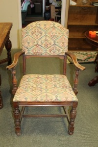 ANTIQUE DINING ROOM ARM CHAIR