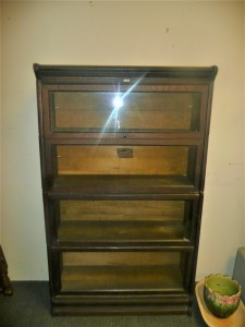 ANTIQUE LUNDSTROM BARRISTER BOOKCASE