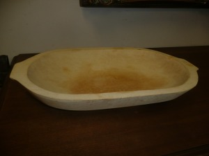 VINTAGE HANDMADE WOODEN dough BOWL