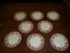 LOT OF 8 JOHNSON BROTHERS STRAWBERRY FAIR BREAD AND BUTTER PLATES
