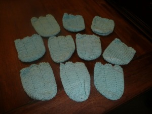 LOT OF ANTIQUE HANDMADE COASTERS