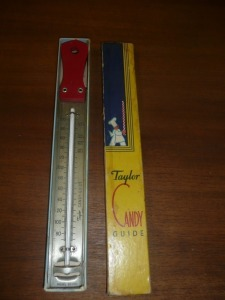 VINTAGE TAYLOR CANDY GUIDE THERMOMETER