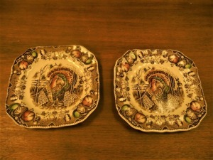 LOT OF 2 HIS MAJESTY JOHNSON BROTHER PLATES
