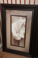 PAIR OF NICELY FRAMED AND MATTED FLORAL ART PRINTS - FOY - 2